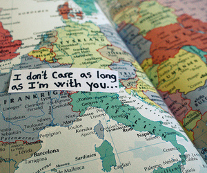 love, map, and quote image