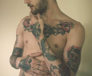 boy, tattoo, and sexy image