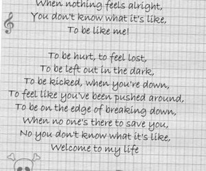 Lyrics, quote, and simple plan image