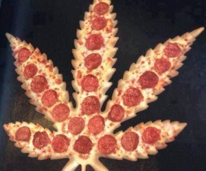 pizza, marijuana, and weed image