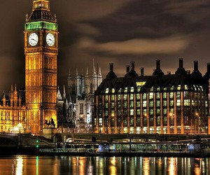 london, Big Ben, and night image