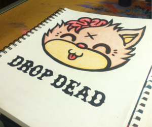 cat, drop dead, and oli sykes image