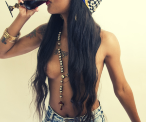 african american, black girl, and wine image