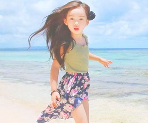 baby, beach, and fashion image