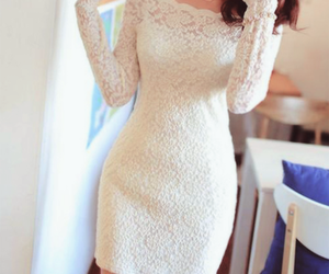 casual, lace, and white image