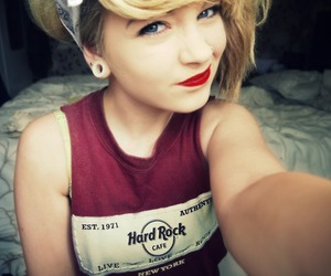 girl, blonde, and hard rock image