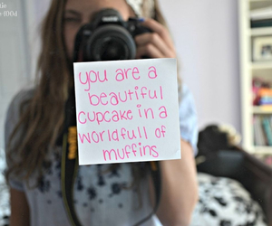 cupcake, quote, and beautiful image