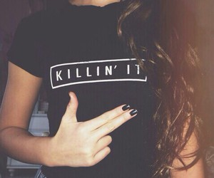 black, hair, and killin it image