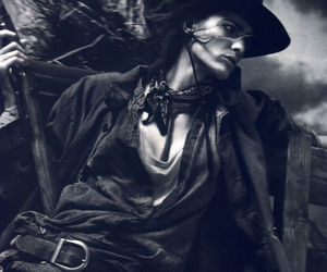 cowboy, Isabeli Fontana, and wild west image