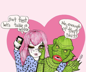 drawing, selfie, and valfre image
