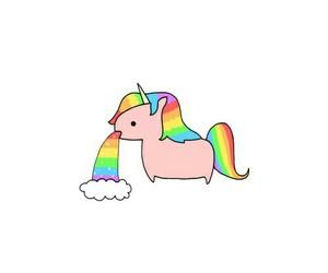 unicorn, rainbow, and overlay image
