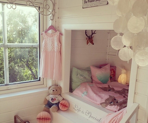 baby, pink, and bedroom image