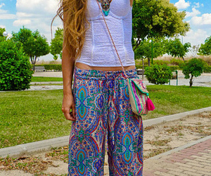 outfit, hair, and pants image