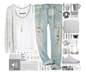 boyfriend jeans, cardigans, and fashion image