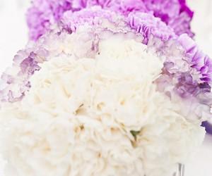 flowers, purple, and wedding image