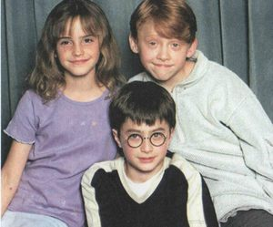 daniel radcliffe, harry potter, and ron weasley image