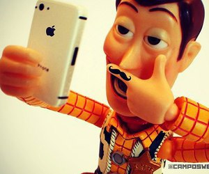 toy story, iphone, and woody image
