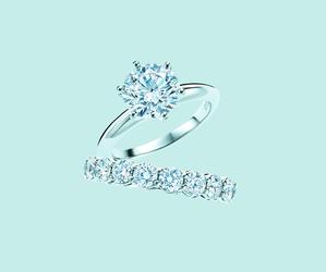 diamonds, rings, and wedding image