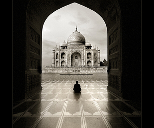 taj mahal, photography, and india image