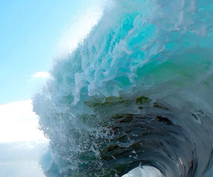 beautiful, waves, and blue image