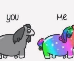 unicorn, me, and you image