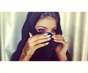 girl, henna, and arab image
