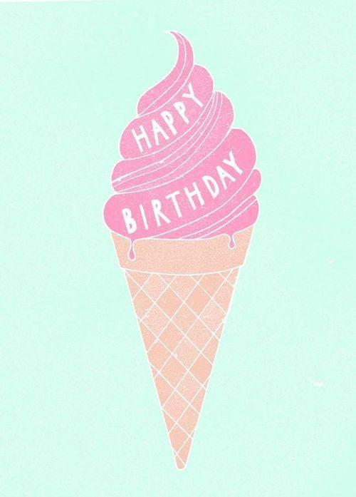 happy birthday, pastels, and ice cream image