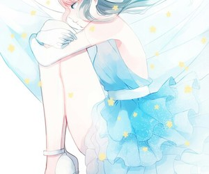 anime, blue, and kawaii image