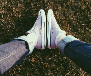<3, shoes, and all star image