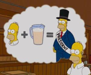 beer, homer, and president image