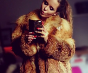 fur coat, Hot, and ponytail image