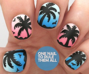nails, beach, and decoration image