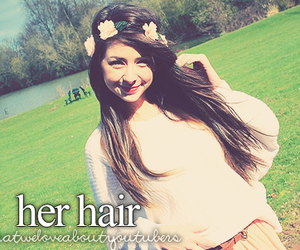 hair, zoella, and youtube image