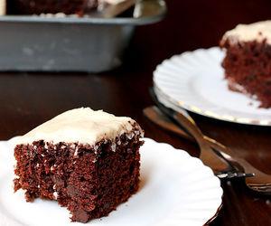 cake, chocolate, and cream cheese image