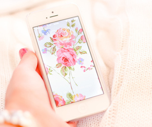 iphone, flowers, and girly image