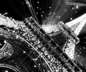 paris, black and white, and light image