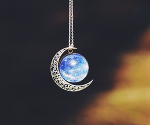 moon, necklace, and earth image