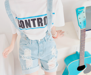 fashion, guitar, and style image
