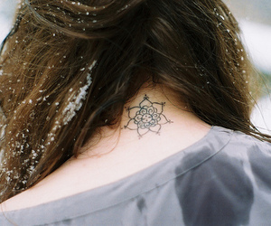 tattoo, snow, and winter image