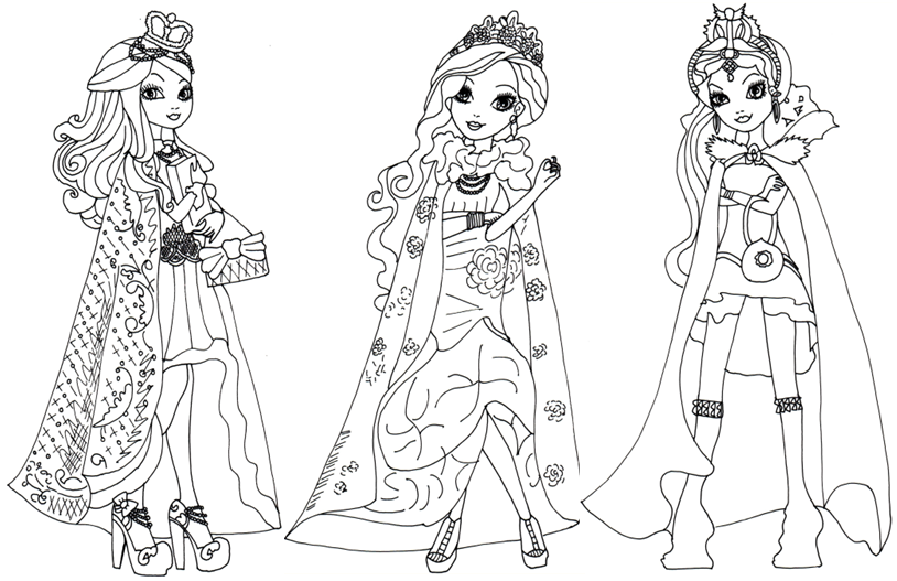 Ever After High Coloring Pages Ever After High Coloring Pages On We Heart It
