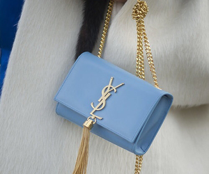 blue, clutch, and white image