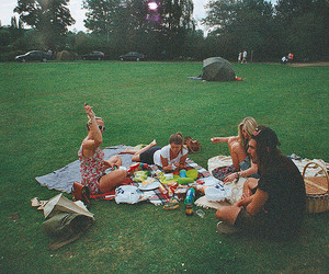 friends, boy, and picnic image