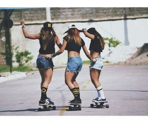 friends, girls, and skate image