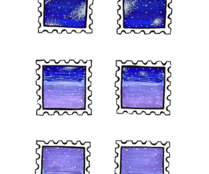 overlay, transparent, and stars image