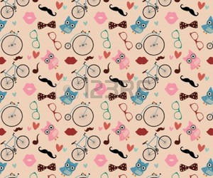 hipster and wallpaper image