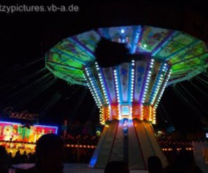 carnival, carousel, and chairoplane image