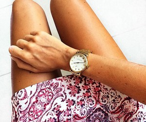 fashion, skirt, and watch image
