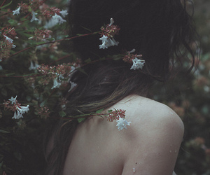 delicate, girl, and nature image