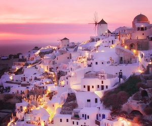 beautiful, Greece, and lights image