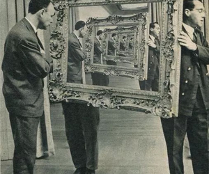 art, black and white, and frame image